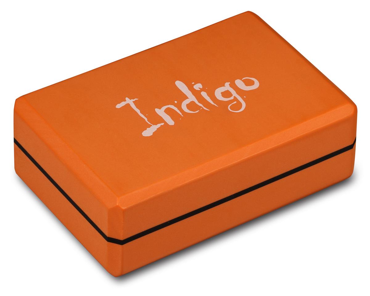 Блок для йоги Indigo, цвет: оранжевый недорго, оригинальная цена