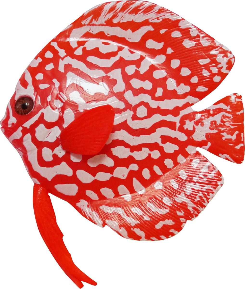 Декорация для аквариума Jelly-Fish Рыба Диск, силиконовая, светящаяся, 16 х 13 х 2,2 см декорация для аквариума jelly fish коралл светящаяся силиконовая цвет разноцветный 8 5 х 7 х 9 5 см