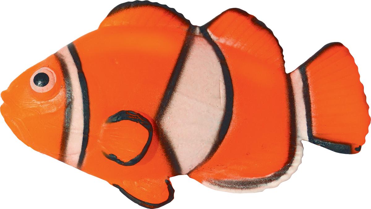 Декорация для аквариума Jelly-Fish Рыба Диск, силиконовая, с неоновым эффектом, 9,7 х 14 х 2,5 см декорация для аквариума jelly fish актиния с рыбой дори с эффектом пузырьков цвет радужный 11 х 8 х 14 5 см