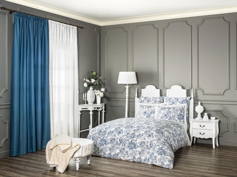 Комплект белья Estia Ла Рош, семейный, наволочки 50х70, 70х70, цвет: голубой ла рош менталист