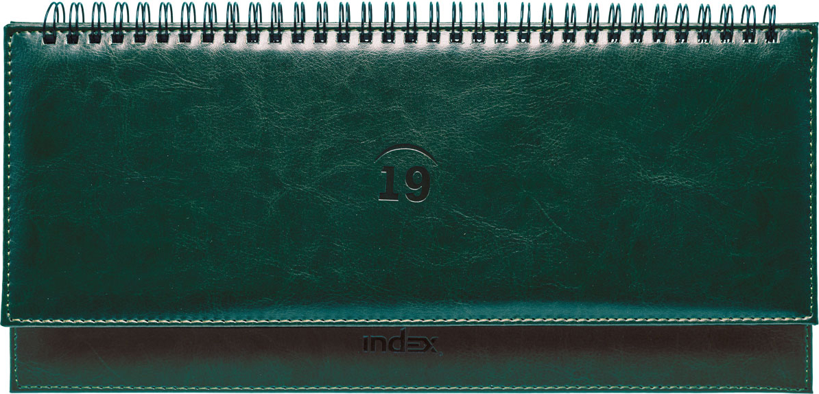 Планинг Index Nature 2019, датированный, цвет: зеленый, 64 листа планинг датированный index basic 2018 ipd1518 rd