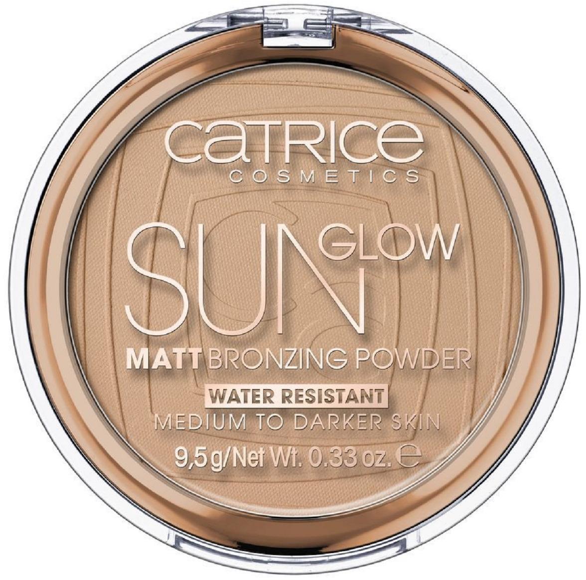 Пудра компактная CatriceSunGlowMattBronzingPower, с эффектом загара, матирующая, оттенок 035 Universal Bronze, 9,5 г бронзирующая пудра sun glow matt bronzing powder catrice лицо