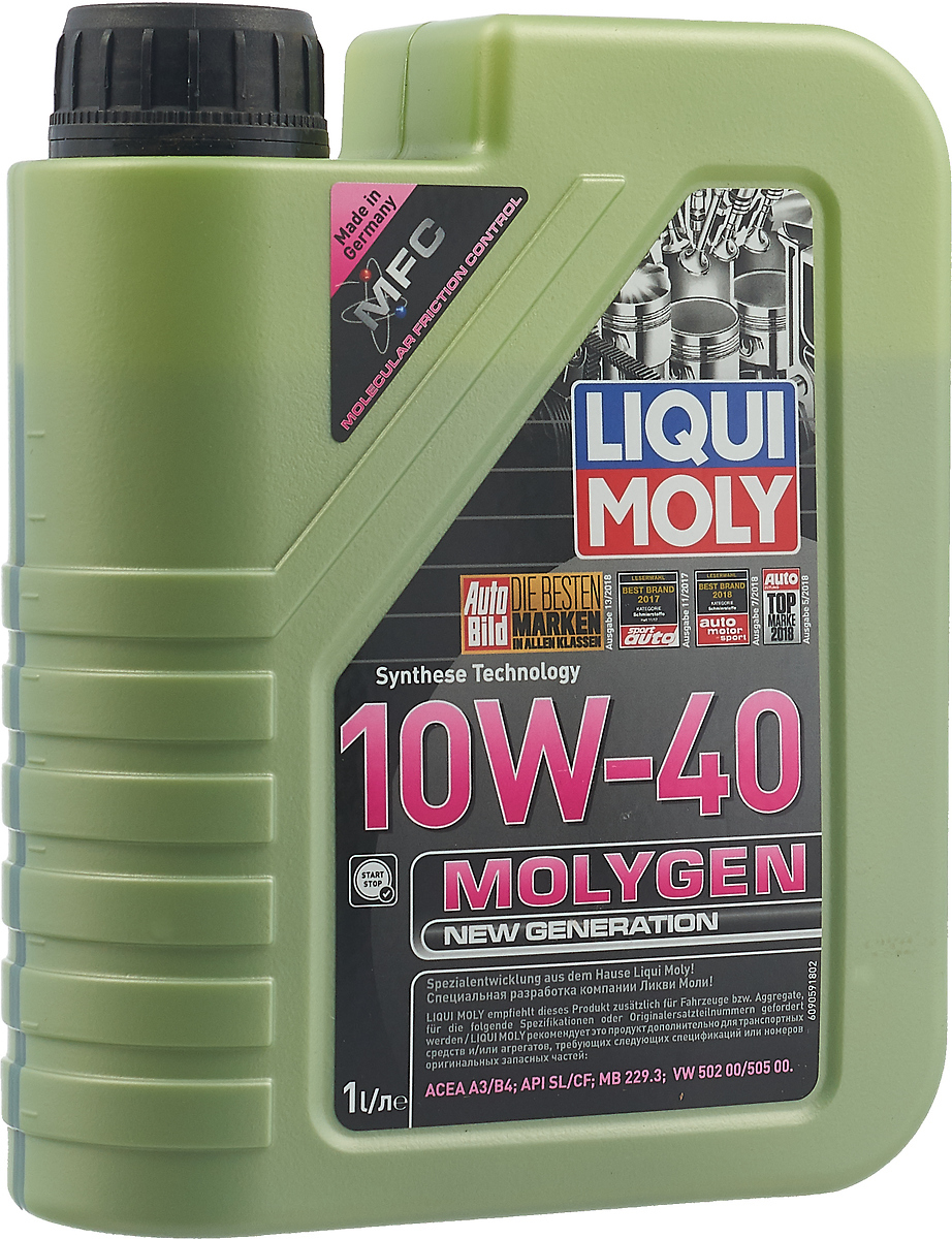 "Масло моторное Liqui Moly ""Molygen New Generation"", НС-синтетическое, 10W-40, 1 л"