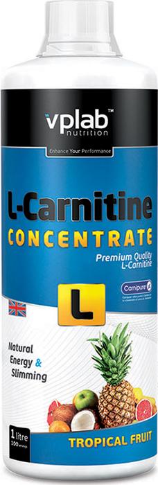 Карнитин Vplab L-Carnitine Concentrate, концентрат, тропик, 1 л l карнитин sport technology nutrition l carnitine guarana 0 5 л