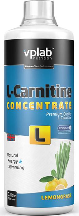 Карнитин Vplab L-Carnitine Concentrate, концентрат, лимон, 1 л l карнитин sport technology nutrition l carnitine guarana 0 5 л