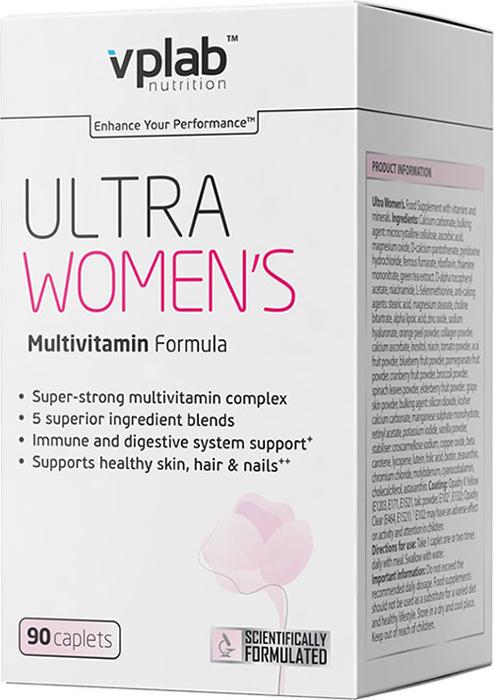 Витаминно-минеральный комплекс для женщин Vplab Ultra Womens Multivitamin Formula, 90 капсул