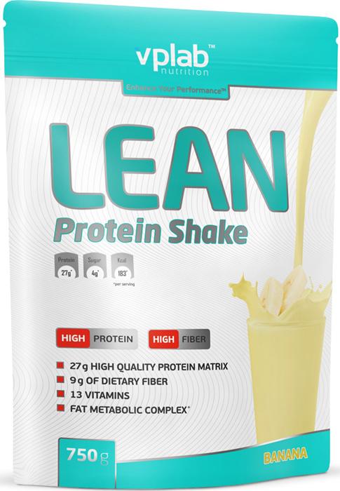 Протеин Vplab Lean Protein, банан, 750 г протеин optimum nutrition opti fit lean protein кофе 830 г