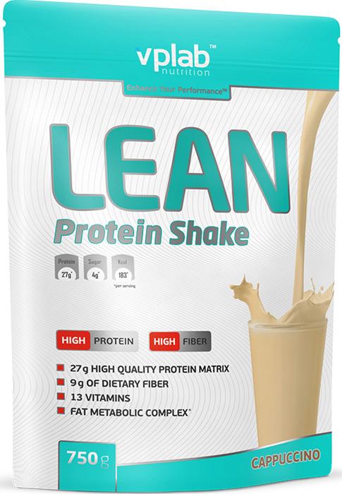 Протеин Vplab Lean Protein, капучино, 750 г протеин optimum nutrition opti fit lean protein кофе 830 г