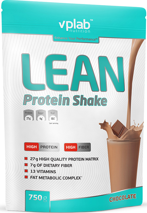 Протеин Vplab Lean Protein, шоколад, 750 г протеин optimum nutrition opti fit lean protein кофе 830 г