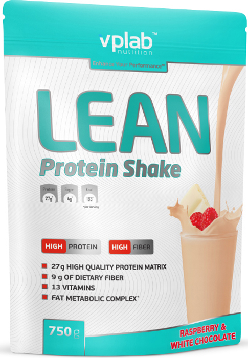 Протеин Vplab Lean Protein, малина и белый шоколад, 750 г протеин optimum nutrition opti fit lean protein кофе 830 г