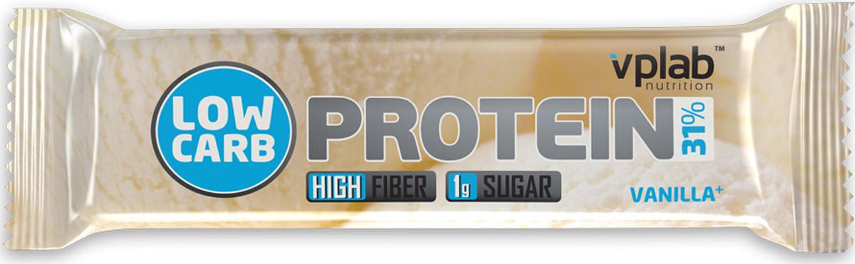 Батончик протеиновый Vplab Low Carb Protein Bar, ваниль, 35 г цена