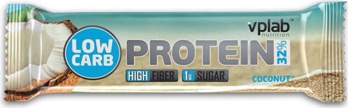 Батончик протеиновый Vplab Low Carb Protein Bar, кокос, 35 г цена