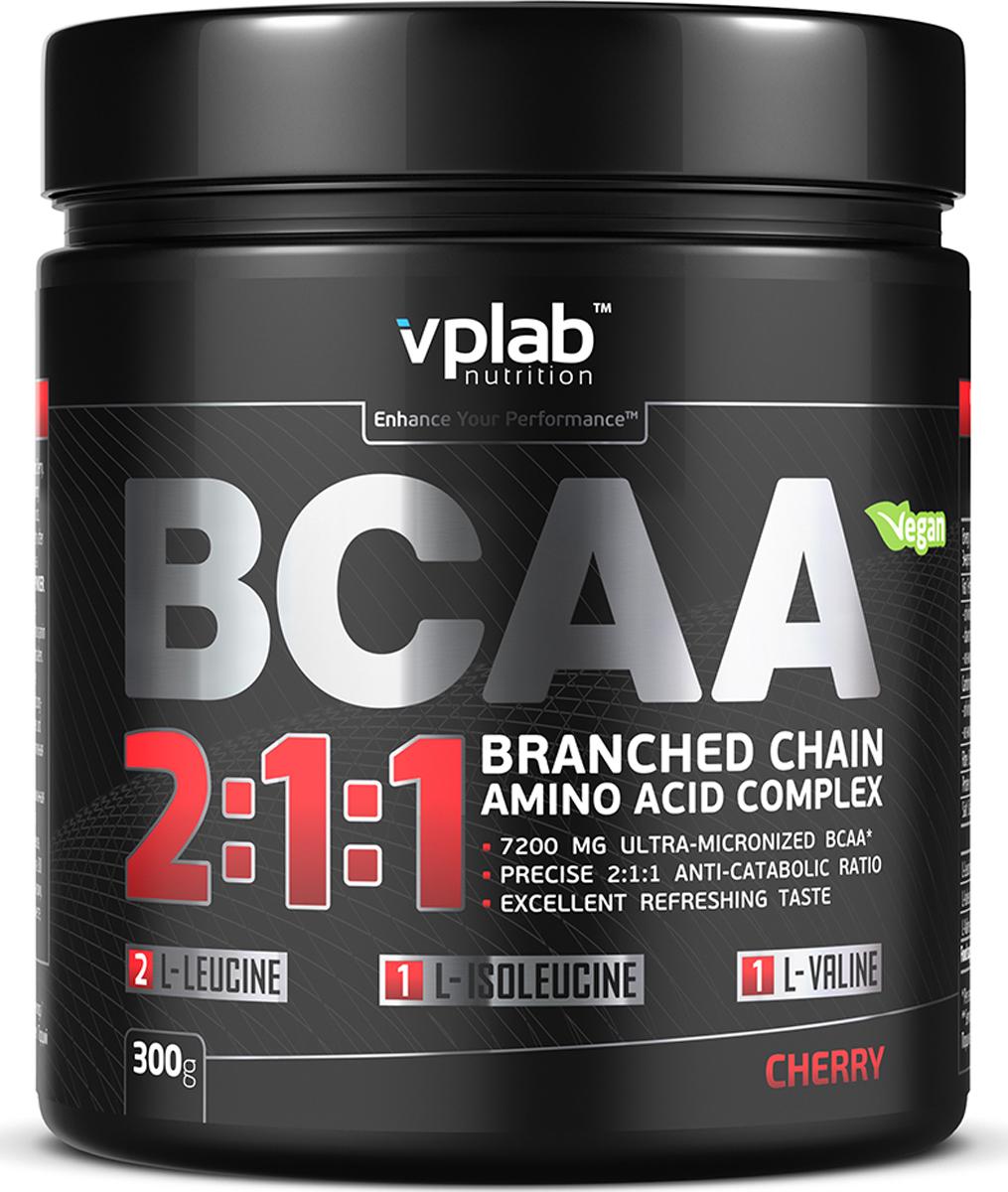 Аминокислотный комплекс Vplab BCAA 2:1:1, вишня, 300 г athletic nutrition bcaa 300 г