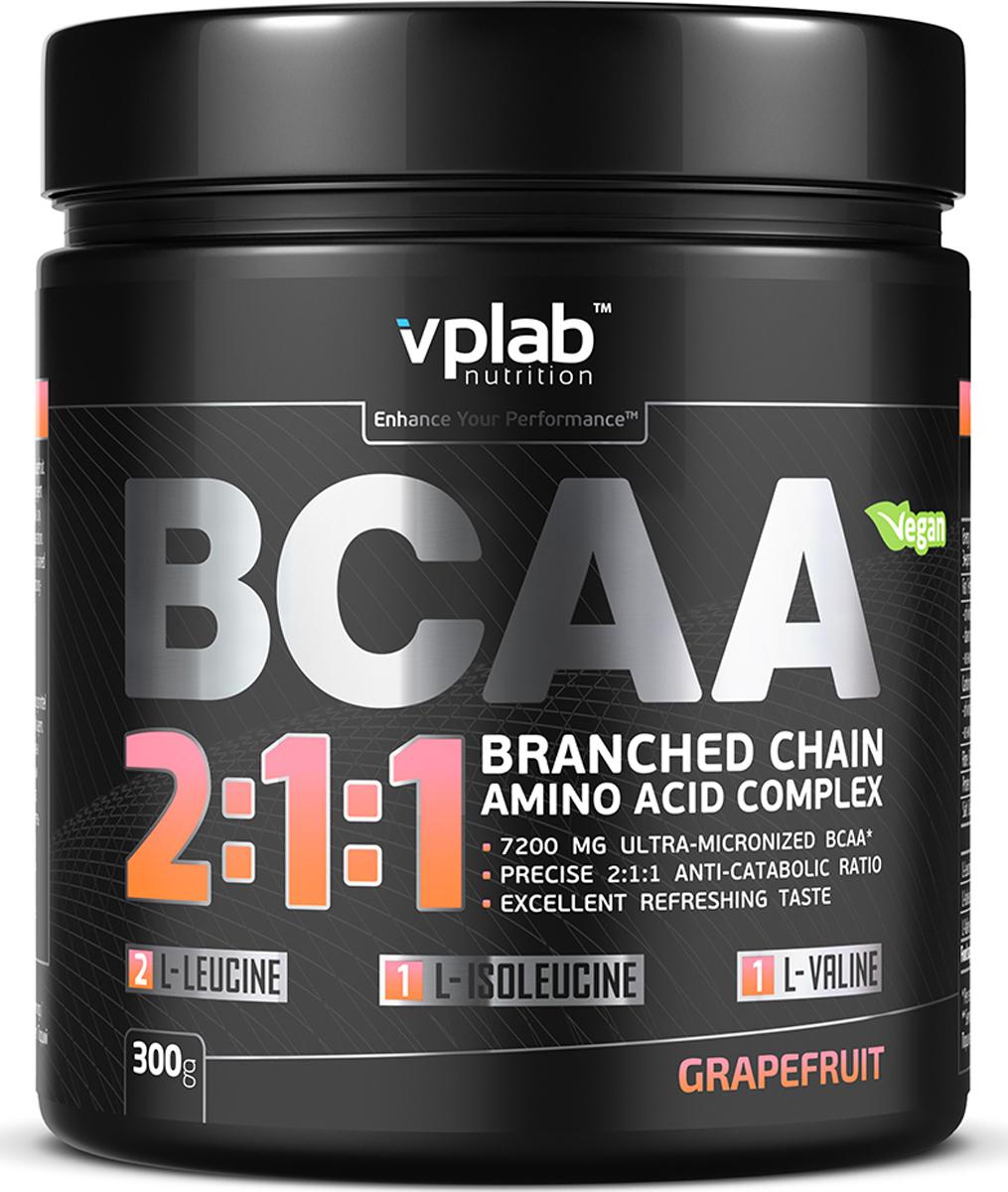 Аминокислотный комплекс Vplab BCAA 2:1:1, грейпфрут, 300 г athletic nutrition bcaa 300 г