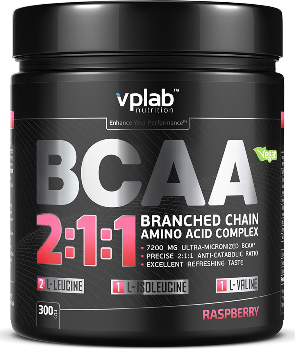 Аминокислотный комплекс Vplab BCAA 2:1:1, малина, 300 г athletic nutrition bcaa 300 г
