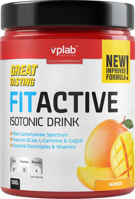 Изотоник Vplab FitActive, манго, 500 г цена
