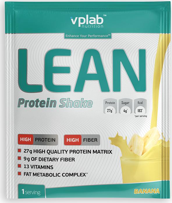 Протеин VP Laboratory Лин Протеин Шейк, банан, 50 г протеин optimum nutrition opti fit lean protein кофе 830 г
