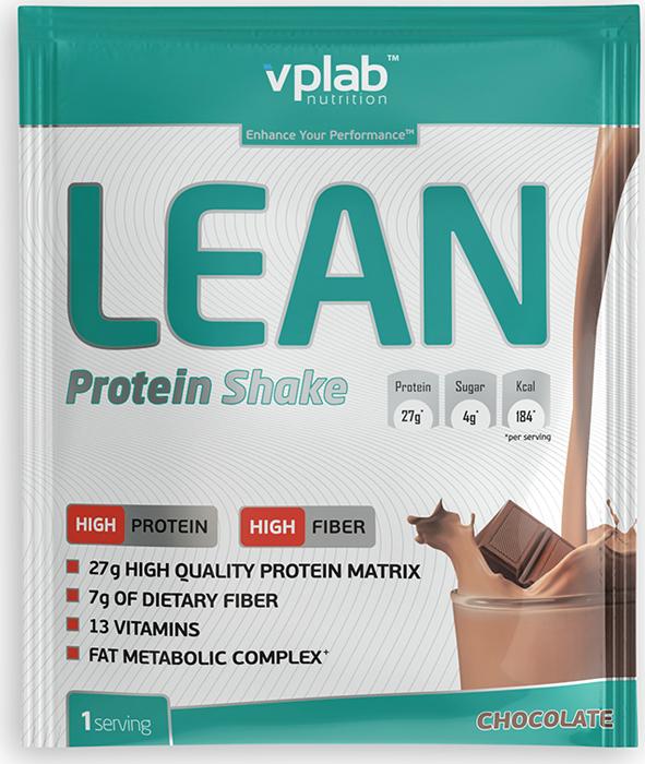 Протеин VP Laboratory Лин Протеин Шейк, шоколад, 50 г протеин optimum nutrition opti fit lean protein кофе 830 г