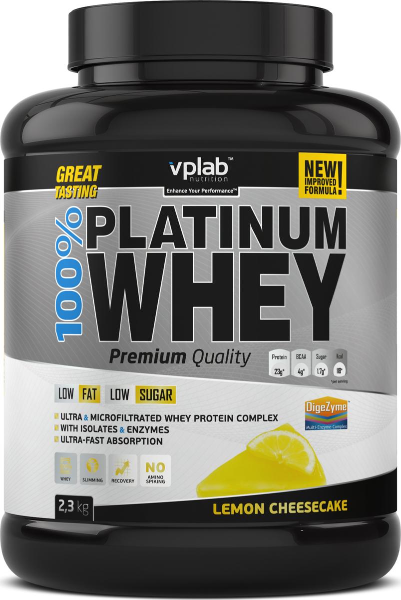Протеин сывороточный Vplab Platinum Whey, лимонный чизкейк, 2,3 кг протеин сывороточный vplab platinum whey лимонный чизкейк 2 3 кг