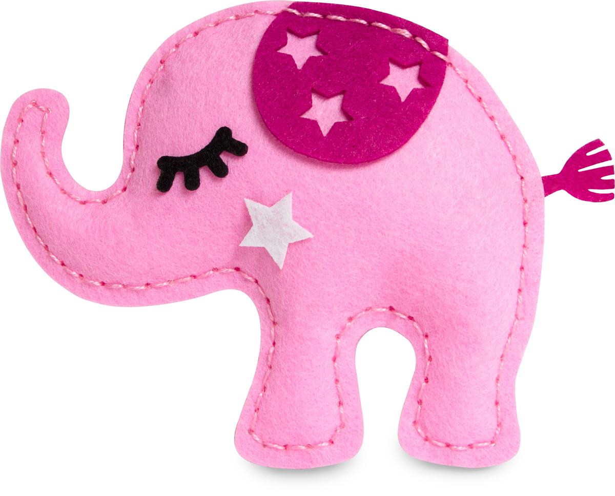 Набор для изготовления игрушки Feltrica Розовый слон, фетр набор для изготовления мягкой игрушки mysweebe зайка в кофте
