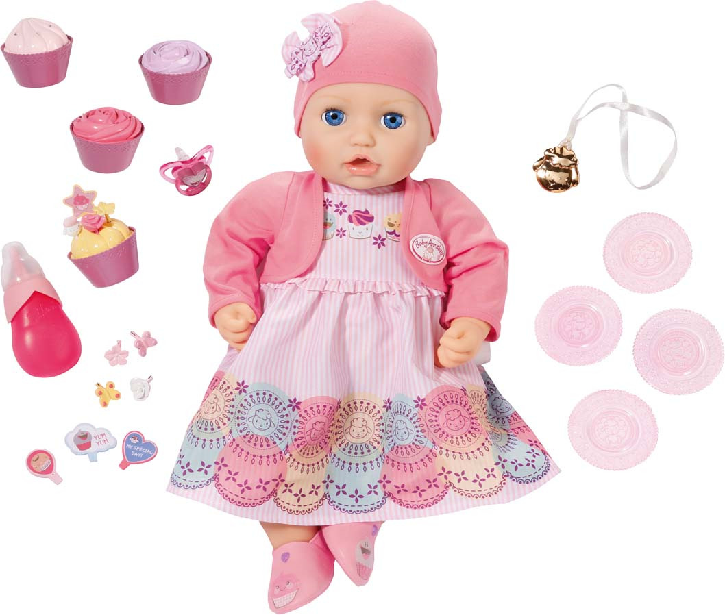 "Кукла озвученная Zapf Creation Baby Annabell ""Праздничная"", с аксессуарами"