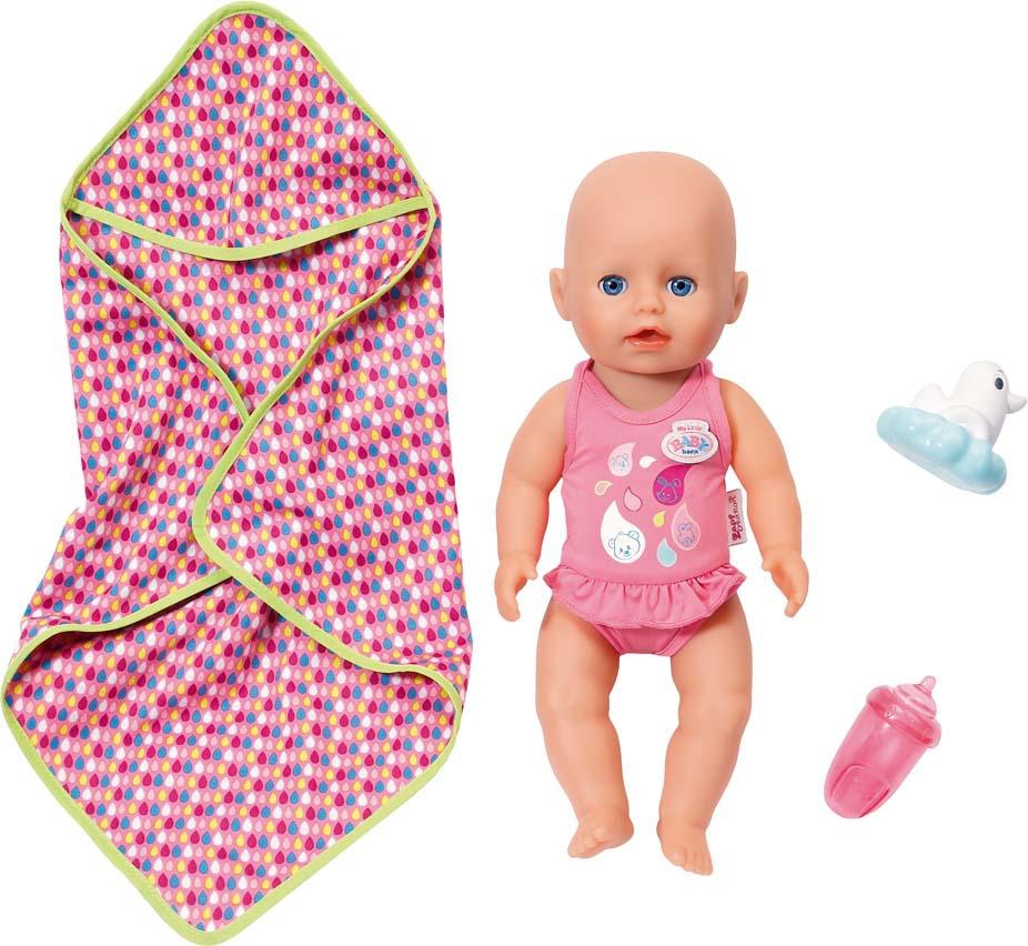 Кукла Zapf Creation My Little Baby Born, для игры в воде, с аксессуарами