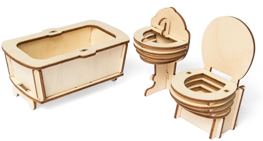 Мебель для кукол IQ Format Ванная комната в домик для кукол LOL
