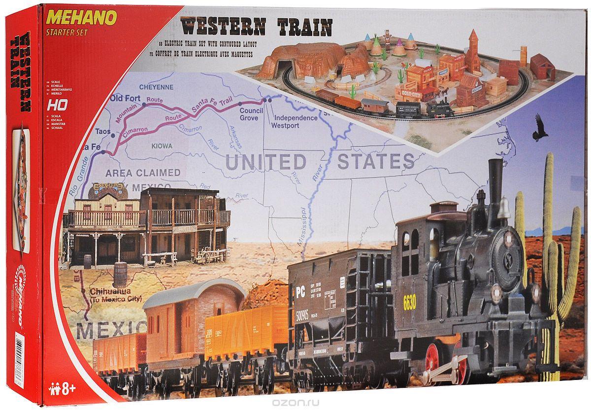 Железная дорога Mehano Western Train, с ландшафтом железная дорога oball go grippers с 3 х лет 10936