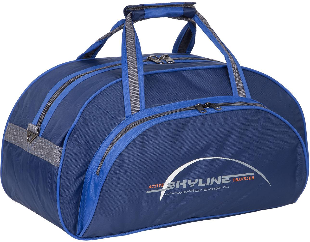 сумки переноски Сумка спортивная Polar Скайлайн, цвет: синий, голубой, серый, 25 л