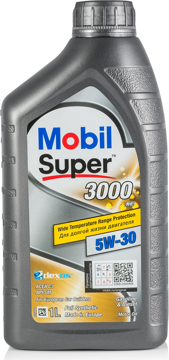 Моторное масло Mobil Super 3000 XE, 5W-30, 1 л