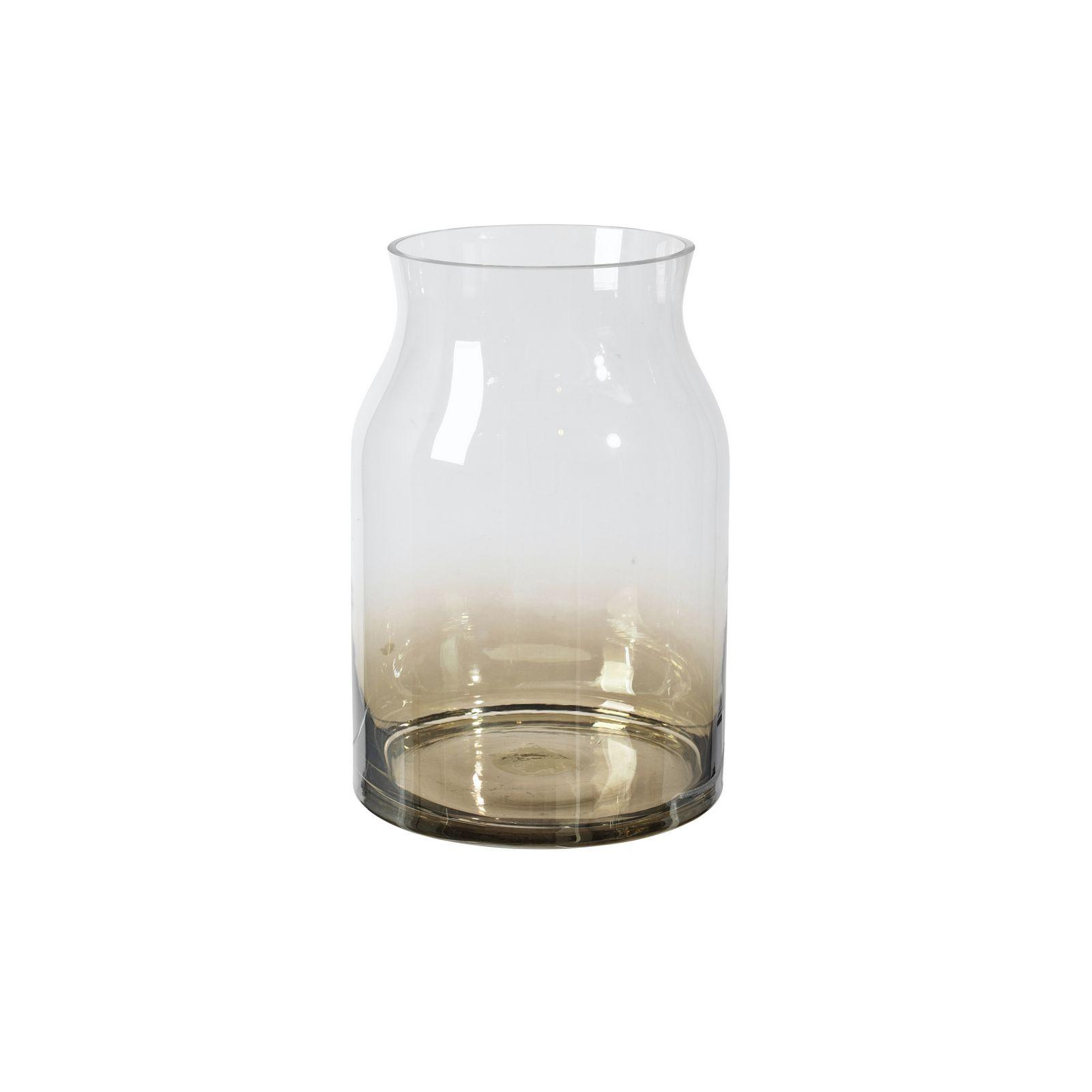 Ваза Broste Curly, цвет: прозрачный, коричневый, высота 25 см. 14471029