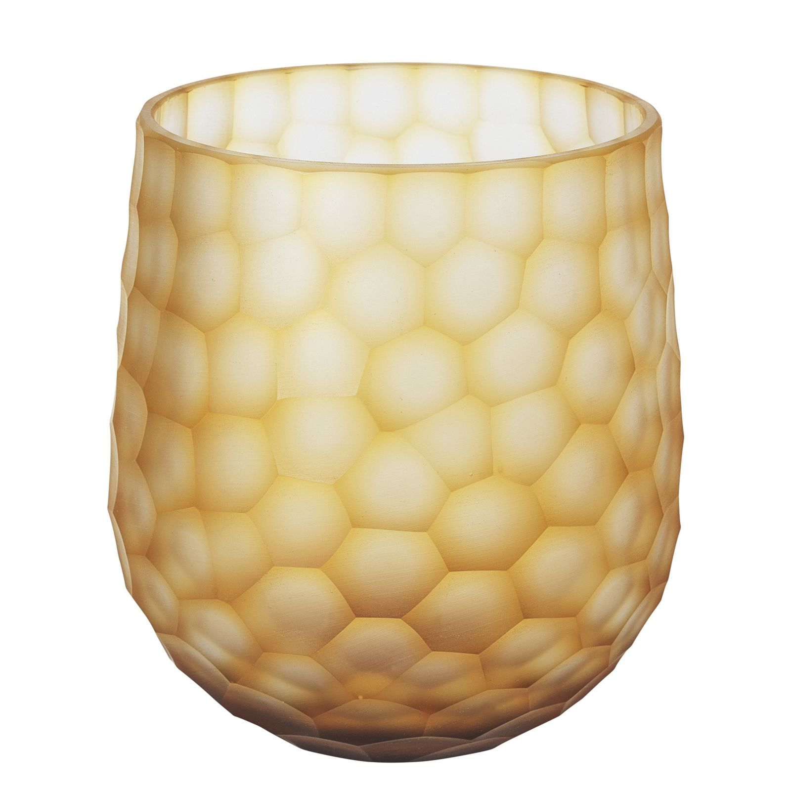 Ваза Broste Cully, цвет: желтый, высота 17 см. 14471042