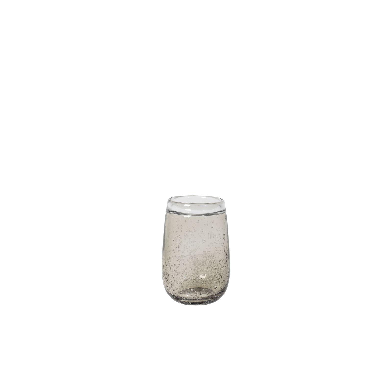 Ваза Broste Ellis, цвет: прозрачный, коричневый, высота 16 см. 14496036