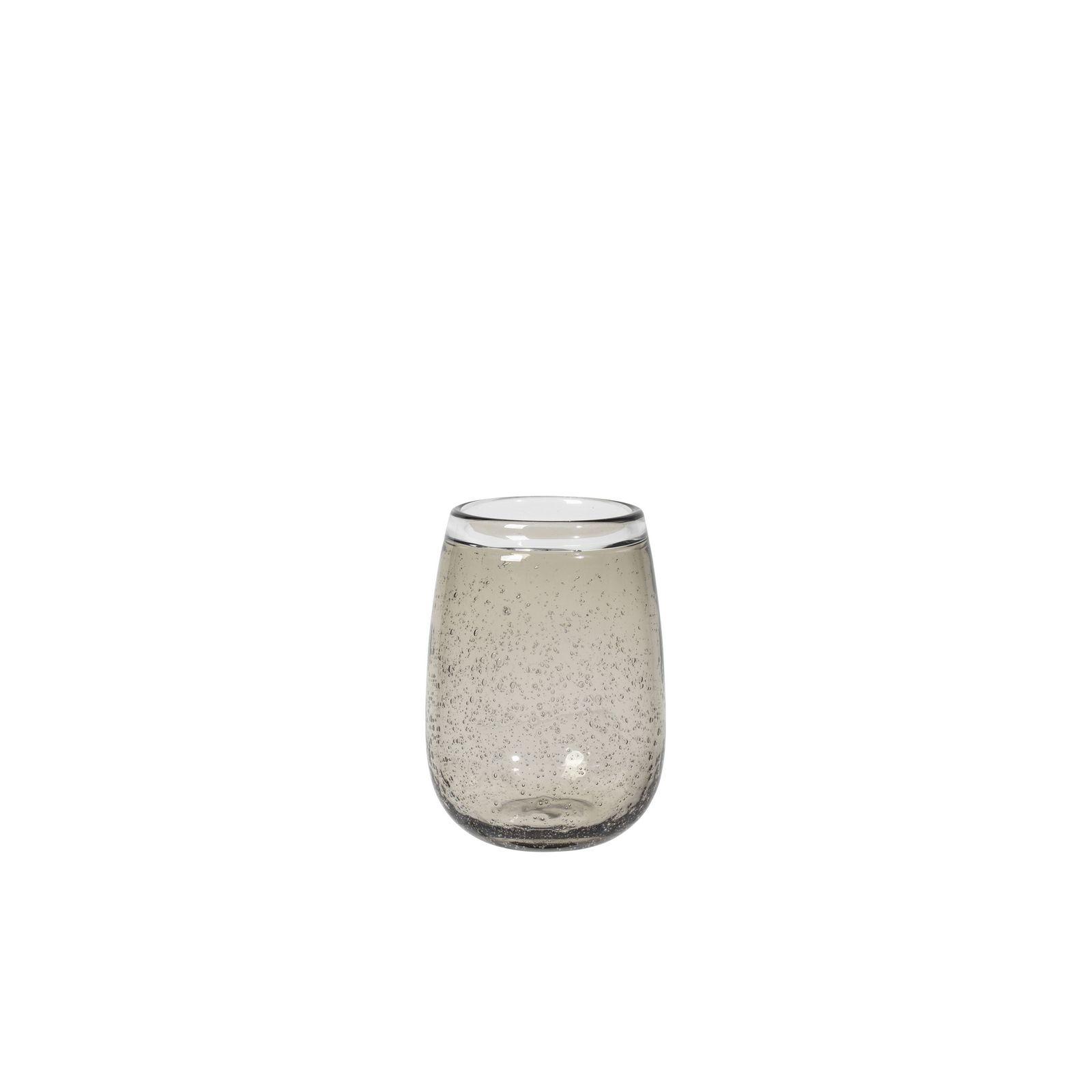 Ваза Broste Ellis, цвет: прозрачный, коричневый, высота 19 см. 14496040
