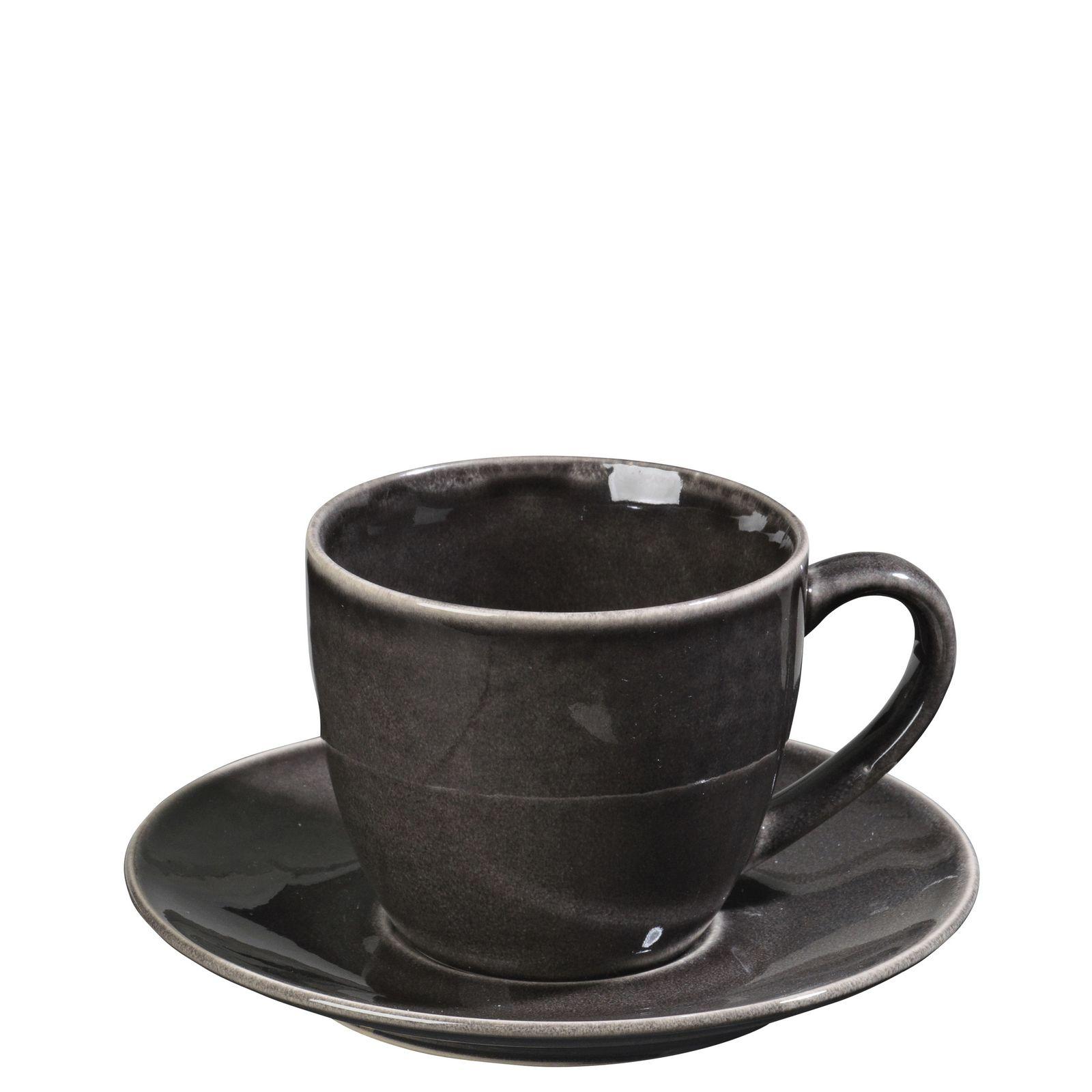 Набор для чая Broste Nordic Coal, цвет: темно-коричневый, 150 мл, 2 предмета. 14533136