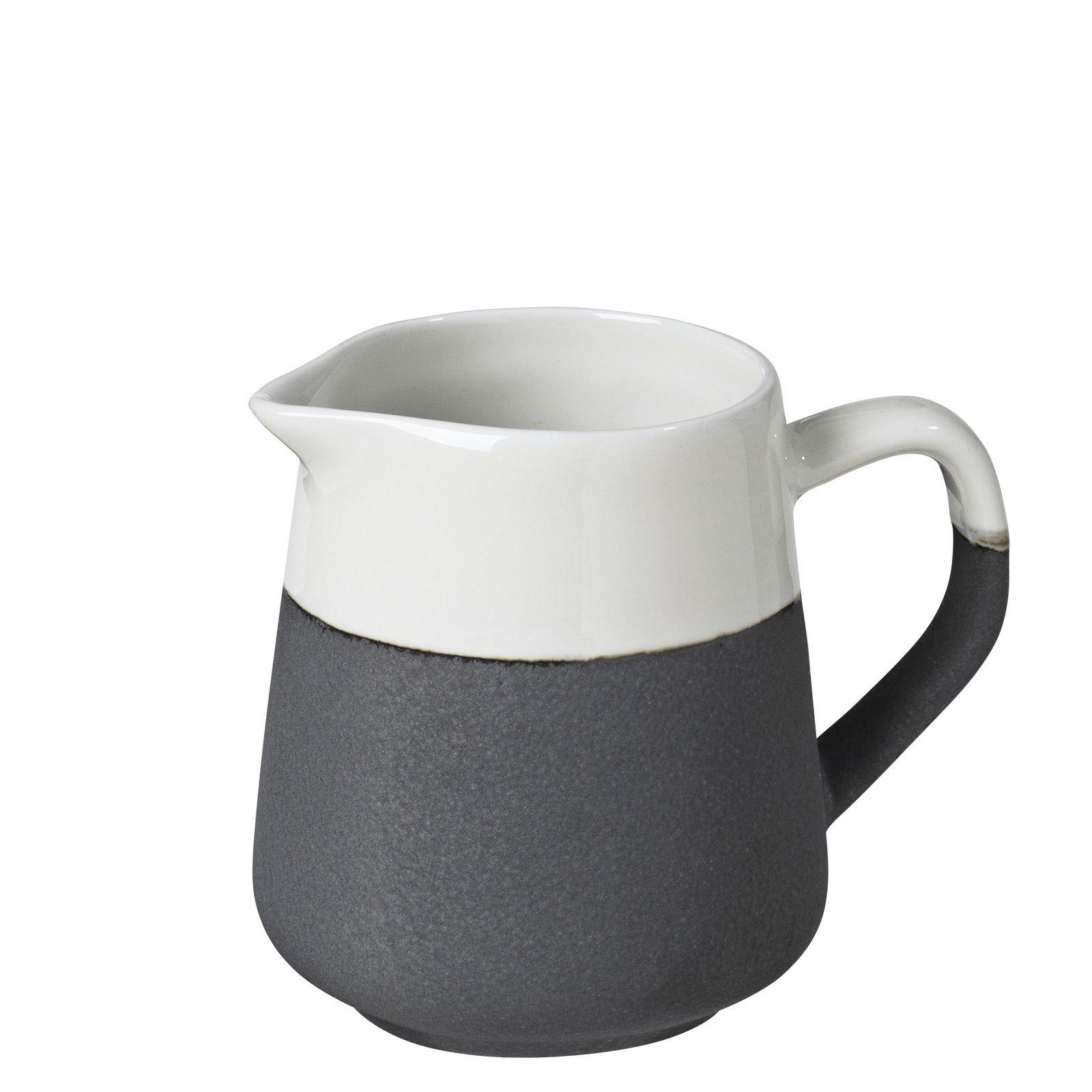 Кувшин Broste Esrum, цвет: белый, темно-серый, 150 мл, высота 8,5 см. 14533143
