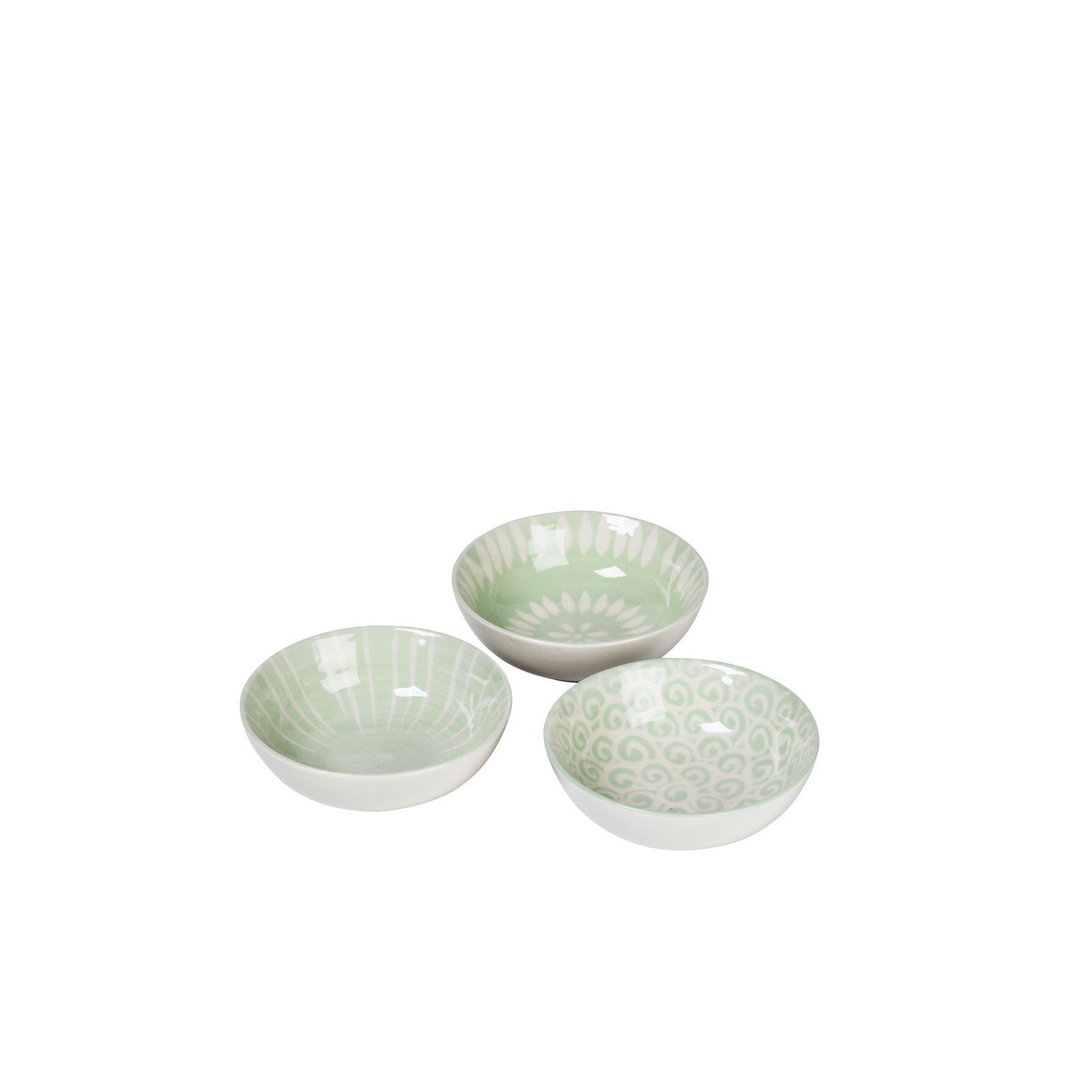 Набор мисок Broste Modern, цвет: белый, зеленый, 13х13х4,5 см, 3 шт. 14533054