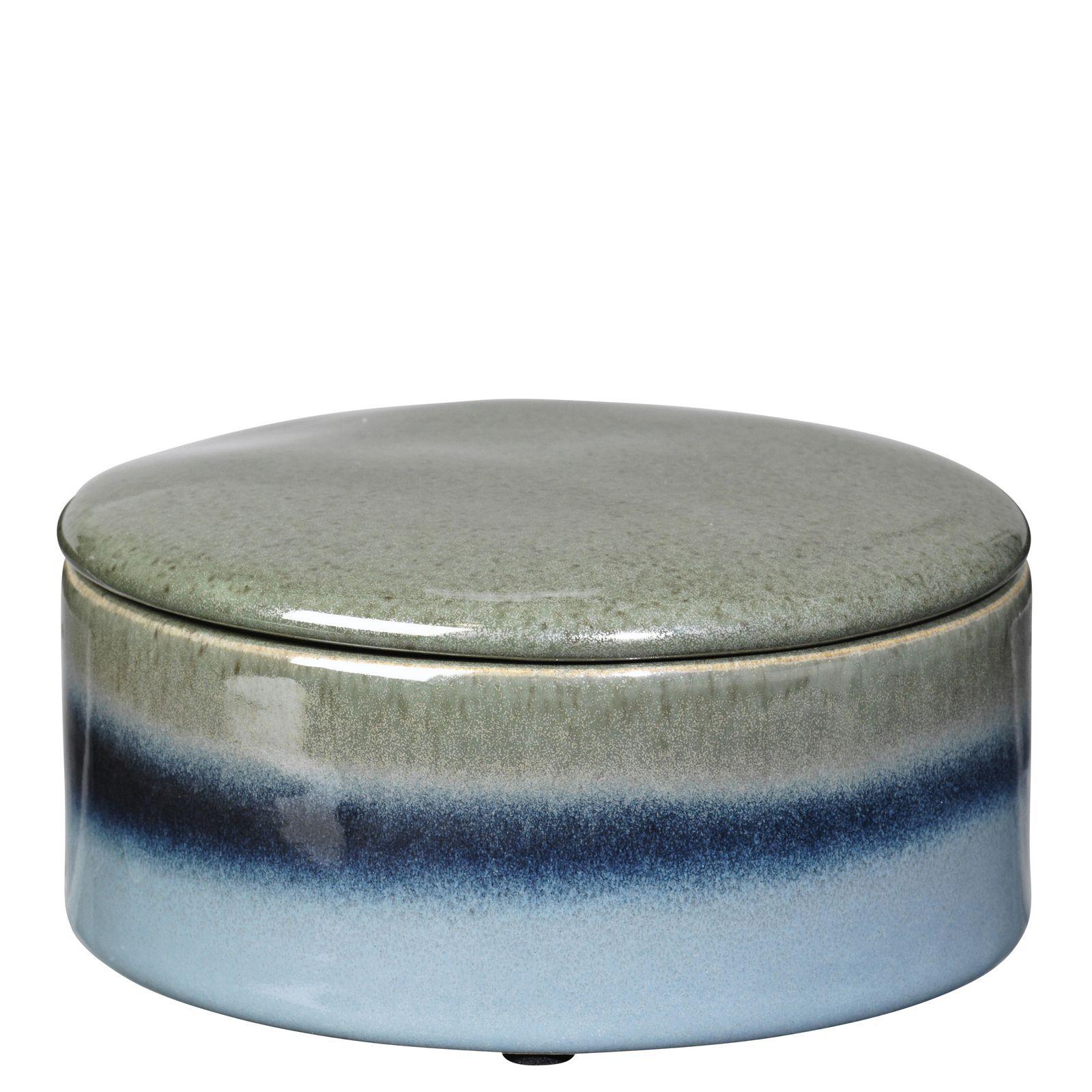 цены Шкатулка Broste Carol, цвет: голубой, 14х14х7 см. 14463124