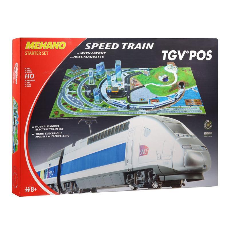 Железная дорога Mehano TGV POS, с ландшафтом mehano мост c опорами для железной дороги