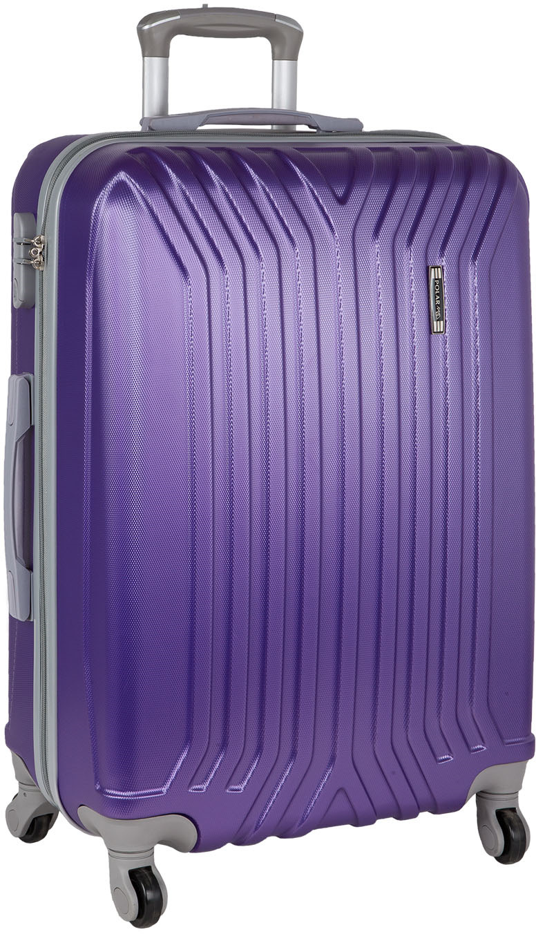 Чемодан Polar, четырехколесный, цвет: фиолетовый, 111 лР22032(28)ФЛНеубиваемые пластиковые чемоданы на четырех колесиках с кодовым замком и выдвижной тележкой. Внутри подкладка из полиэстера. Одна секция чемодана с креплением резинками для одежды. Вторая секция застегивается на молнию для удобства упаковки вещей. Чемоданы выполнены из высококачественного пластика, разработанного специально для условий эксплуатации в зимнее время. Благодаря новому составу пластик не трескается и не боится перепадов температур.