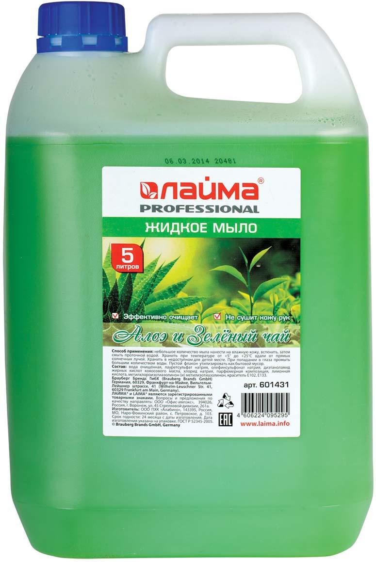 Фото - Мыло жидкое Лайма Professional Алоэ и Зеленый чай, 5 л жидкое мыло jiva 300 мл зеленый чай и алоэ