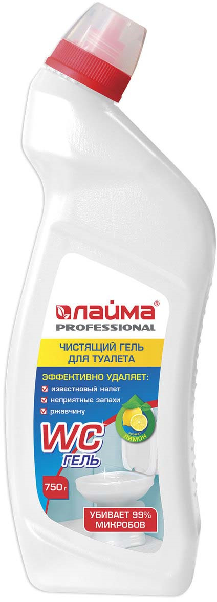 Средство для уборки туалета Лайма Professional Лимон-WC ГЕЛЬ, 750 г средство для чистки и дезинфекции deso 5 кг grass 125191