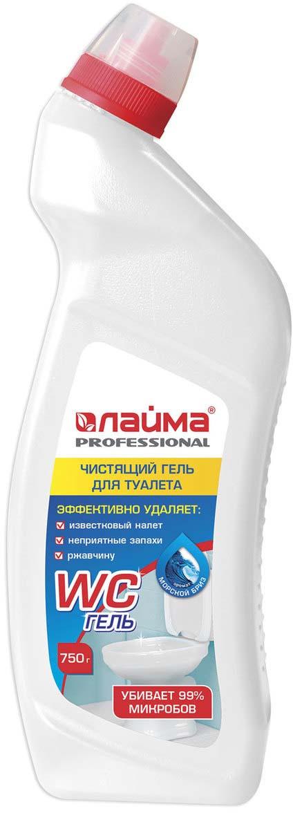 Средство для уборки туалета Лайма Professional Морской бриз-WC ГЕЛЬ, 750 г средство для чистки и дезинфекции deso 5 кг grass 125191