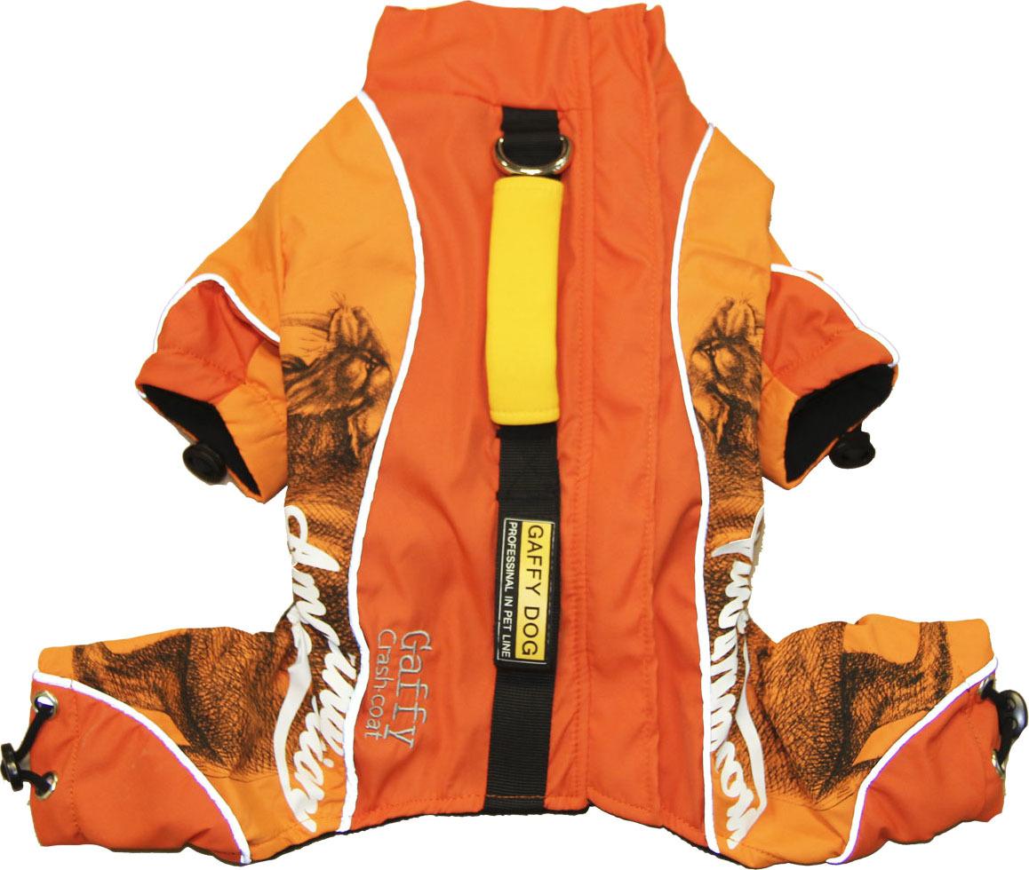 Дождевик для собак Gaffy Pet Pro, унисекс, цвет: оранжевый. Размер S