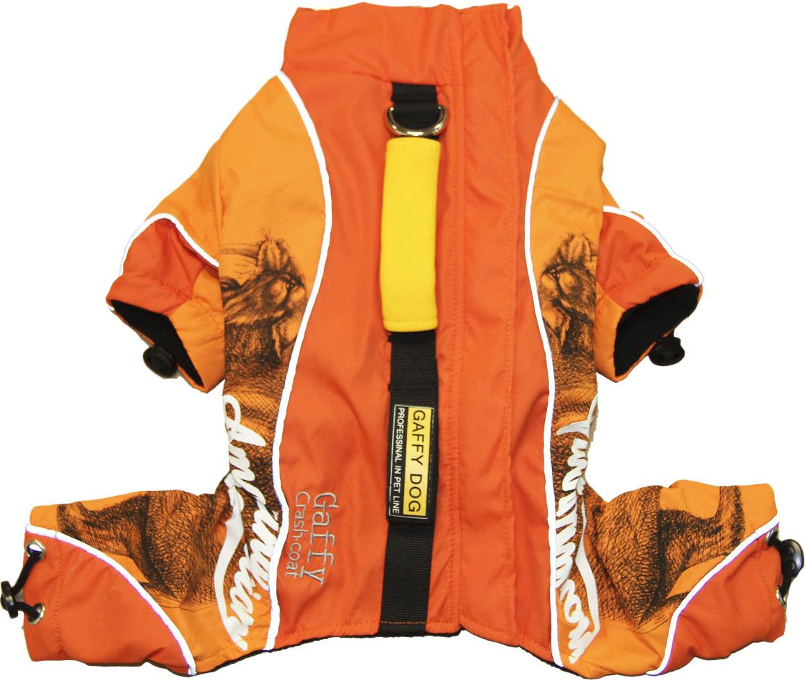 Дождевик для собак Gaffy Pet Pro, унисекс, цвет: оранжевый. Размер L