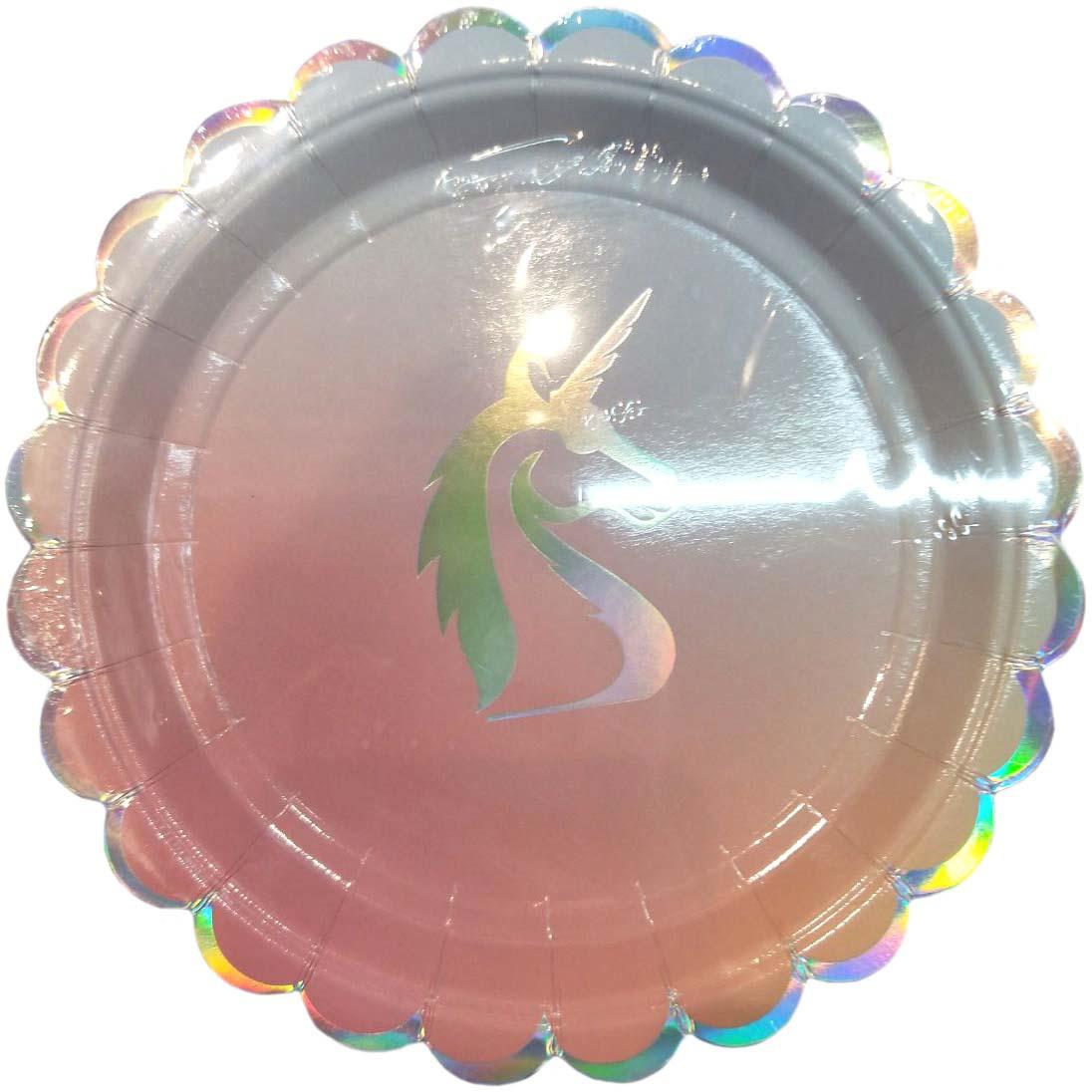 Тарелка с Единорогом из ламинированного картона, диаметр 23 см, 6 шт в наборе / 1,8x23x23см арт.79286
