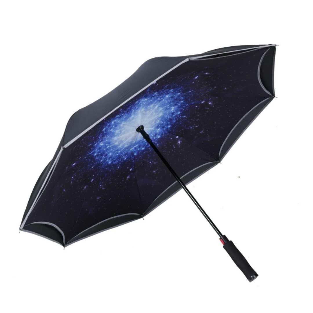 Зонт-трость женский Mgitik, реверсивный полуавтомат, UMV22, черный, белый зонт зонт наоборот bordo