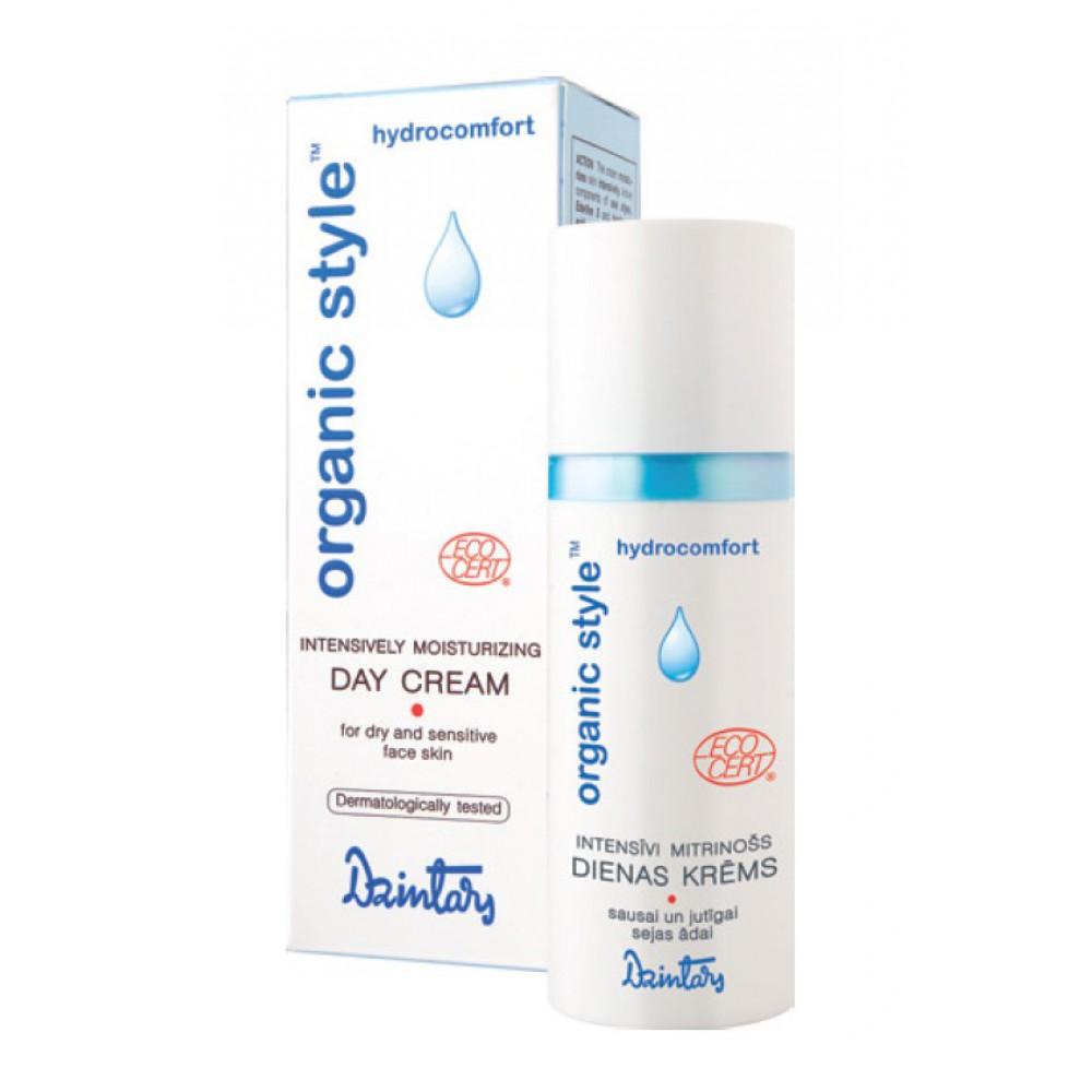 Дневной крем Dzintars Organic Style Hydrocomfort, интенсивно увлажняющий, для сухой и чувствительной кожи лица, 50 мл