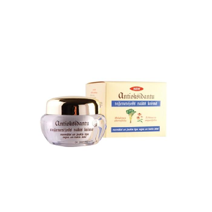 Ночной крем Dzintars Антиоксидантный, регенерирующий, для нормальной и смешанной кожи лица и шеи, 50 мл Dzintars