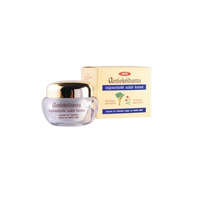 Ночной крем Dzintars Антиоксидантный, регенерирующий, для сухой и увядающей кожи лица и шеи, 50 мл Dzintars